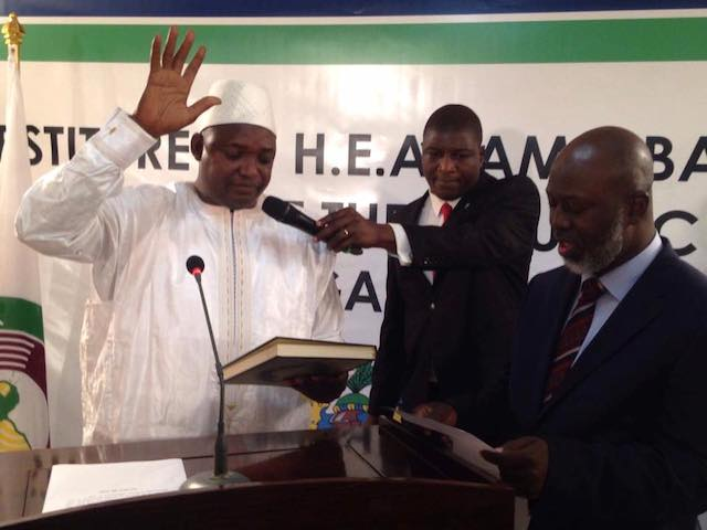 Adama Borrow sworn in as the 3rd President of Gambia