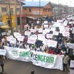 Anti-Govt protesters storm Abuja
