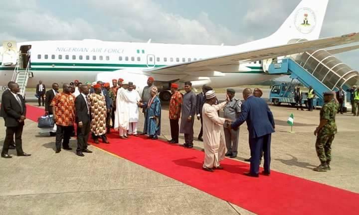 Arrival of Mr President