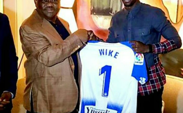 Omeruo praises Governor Wike for Grooming Future Stars