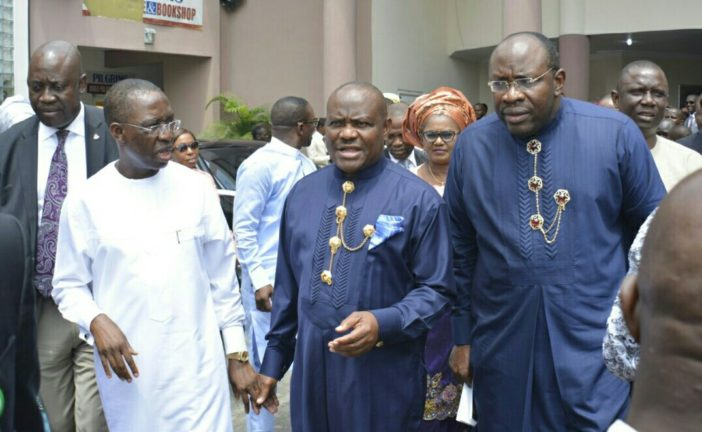 Origin of Governor  Wike battle with Seriake Dickson is beyond Soku oil …………WIKE  May clash with Delta Governor Okowa over Edo Poll.