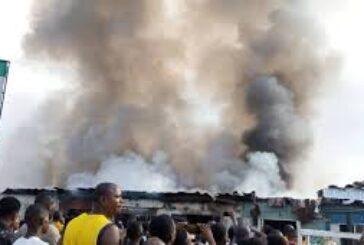 Properties up in flames as fire razes Ogbe-Ogonogo market, Asaba