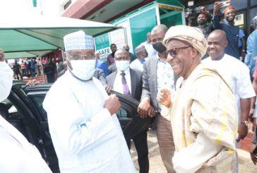 Photo Press Release - Atiku's Visit to Wadata House Abuja